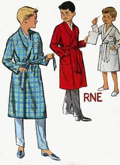 1950s Simplicity 4740 Boys Robe with Alphabet by sandritocat, $6.00