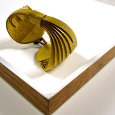 propeller LEATHER cuff CITRON salvaged materials