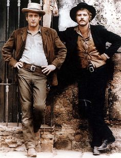 Paul Newman as Butch Cassidy & Robert Redford as Sundance Kid - 1969 . Hollywood Actor, Classic Hollywood, Old Hollywood, Sundance Kid, Paul Newman Robert Redford, Most Stylish Men, Stylish Man, Handsome Actors, Handsome Guys
