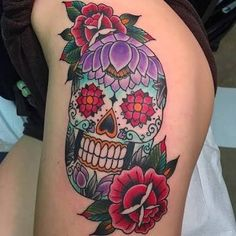 Are you the one who love tattoos? If yes, then try sugar skull tattoo designs. Unique skull tattoos have been used in diverse culture and tri Finger Tattoos, Hand Tattoos, Sugar Skull Tattoos, Time Tattoos, Tattoos For Guys, Tattoos For Women, Art Clipart, Image Clipart, Tattoo Designs And Meanings