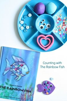 Counting with The Rainbow Fish by Marcus Pfister-Playful preschool learning activity