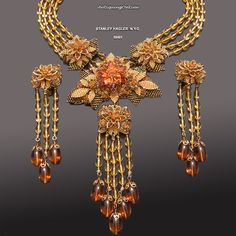 Vintage Stanley Hagler Necklace and Earrings Set