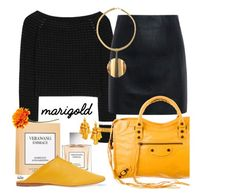 """Merry Marigold !!"" by kateo ❤ liked on Polyvore featuring 3.1 Phillip Lim, Vera Wang, Mercedes Castillo, McQ by Alexander McQueen, Balenciaga, Kate Spade, Christian Dior, marigold and 6508"