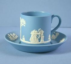 Wedgwood Nike and Warrior Cream On Lavender Demitasse Cup & Saucer Cup And Saucer Set, Tea Cup Saucer, Wedgewood China, Antique Tea Cups, Vintage Teacups, Wedgwood Pottery, Teapots And Cups, China Tea Cups, Girly Girl