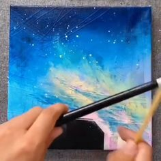😍 Great art by ID: 1159505892 (Döuyin App) – Art and Drawings – agepoxy Canvas Painting Tutorials, Paintings On Canvas Easy, Canvas Board Painting, Painting Lessons, Abstract Paintings, Oil Paintings, Painting Art, Landscape Paintings, Art Sur Toile