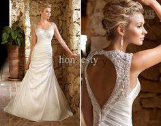 Wholesale A Line Wedding Dresses Taffeta Spaghetti Strap Peach Heart Back Beads Beading Chapel Train Ella 5695, Free shipping, $148.96-165.76/Piece | DHgate