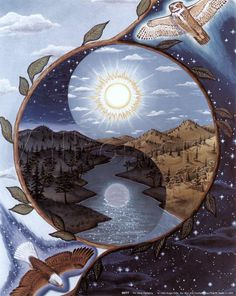 """hippie-tranquility: """" vufus: """" Yin Yang Harmony"""" Artist: Rick Faist """" Anonymously tell me what you are thinking about """""""
