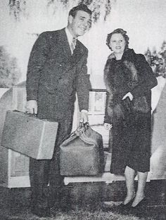 Newlyweds Lon Chaney and wife