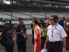 .@h3lio talks with media after a solid qualifying run. #VerizonIndyCar #Indy500