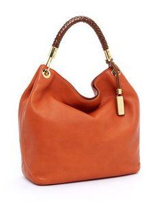 Michael Kors Skorpios Large Shoulder Bag in Tangerine for Spring!