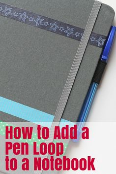 How to add pen loop to notebook