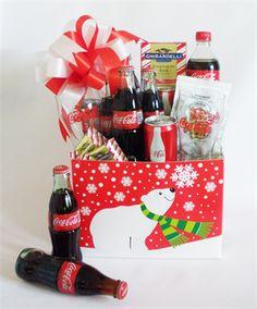 coca cola halloween display | Coca Cola Christmas Gift Basket