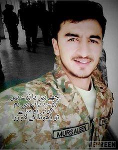 Caption Mursaleen Pakistan Zindabad, Pakistan Fashion, Pak Army Quotes, Pak Army Soldiers, Pakistan Armed Forces, Men In Uniform, Caption, Pakistani, Hot Guys