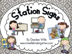 Stations or Centers Work Board Signs FREEBIE...i cant wait until i get a classroom...(>.<)