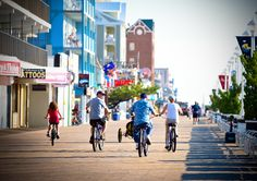 Bikes are allowed on the boardwalk ALL DAY from Labor Day through Memorial Day. Re-pin if you've peddled your way down the boards.