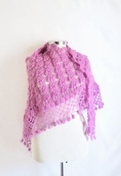 ON SALE SHAWL discount pink  colors shawl by modelknitting on Etsy