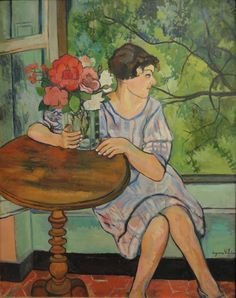 Suzanne Valadon (French, 1865-1938) - Young Girl in Front of a Window, 1930