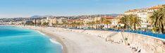 Nice Cote d'Azur Riviera France with mediterranean beach sea  Panorama