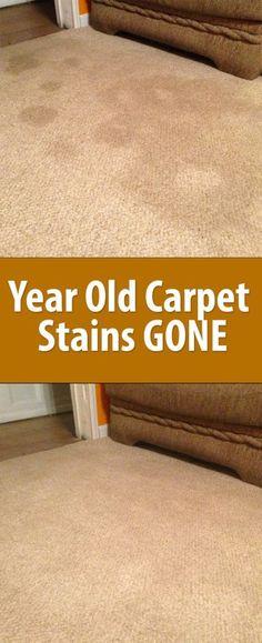 Diy: Old Carpet Stains GONE