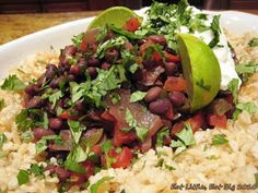 Eat Little, Eat Big: Slowcooker Cuban Beans and Rice