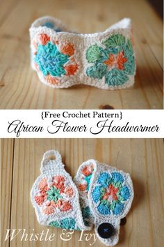 Free Crochet Pattern - African Flower Headwarmer | Whistle and Ivy