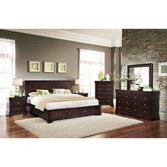 Caprice 6-piece Queen Bedroom Set $2450 (Bed, 2 nightstands, dresser ...