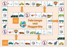 """Idea Journey: Playground """"Vehicles and Aircraft"""" for DaZ Preschool At Home, Preschool Crafts, Teaching English, Learn English, Speaking Games, Health And Physical Education, Irish Language, Transportation Theme, English Games"""