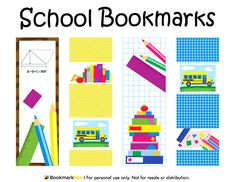 Free printable space bookmarks. The designs include the ...