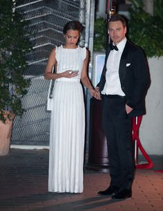 Michael Fassbender and Alicia Vikander at Golden Globes 2016 | POPSUGAR Celebrity UK