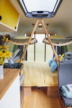 Auto Camping, Van Camping, Bus Life, Camper Life, Motorhome, Carros Off Road, Kids Cot, Campervan Hire, Camper Van Conversion Diy