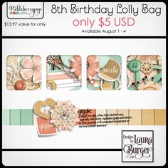 It's PBP's Birthday, but you get the treats! Lolly Bags are available for just $5 through August 4.  This Lolly Bag includes: 27 backgroun...