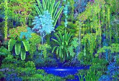 Hirō Isono, the illustrator behind the gorgeous artwork in iconic Square RPG Secret of Mana. Born in the artist graduated from the Aichi University o. Jungle Life, Jungle Art, Final Fantasy Adventure, Types Of Visual Arts, Fresco, Secret Of Mana, The Doors Of Perception, Forest Illustration, Tropical Art