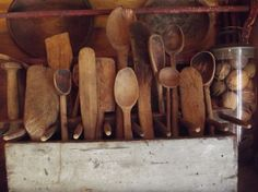 collection of wooden paddles & spoons