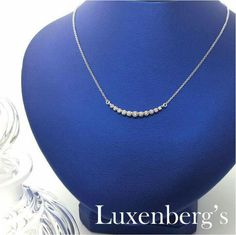 Sparkling brilliant white diamonds to brighten her day.  This .50tcw graduated diamond necklace makes a great anniversary gift.  Luxenberg's...We want to be your Jeweler!  www.luxenbergs.com