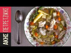 Greek Fish soup by Greek chef Akis Petretzikis. A delicious Greek recipe for a healthy, nutritious, vitamin packed and super aromatic fish and vegetable soup! Sweets Recipes, Baby Food Recipes, Cooking Recipes, Greek Desserts, Greek Recipes, Greek Cooking, Cooking Time, Greek Fish, Kitchens