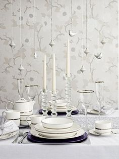Christmas tables: White table