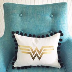 DIY Super Hero Logo Pillow