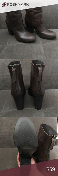 BCBGeneration Leather Boots BG Riviera Booties. Excellent condition! Worn twice. Tiny, unnoticeable scuff marks. (Last picture) BCBGeneration Shoes Heeled Boots