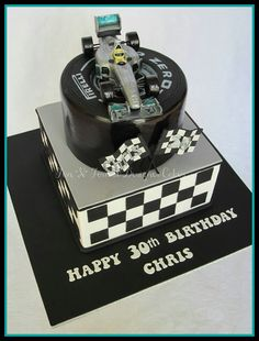F1 Racing Car Cake Awesome Showmethecarcake 70th Birthday 50th