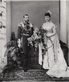 King George V; Queen Mary, W. & D. Downey