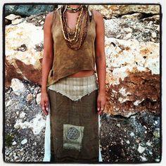 Panel Skirt. $60.00, via Etsy.
