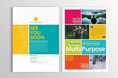 Multipurpose Print Newsletter Templates Simple and easy multipurpose print newsletter design to convey essential and concise information of by h. Newsletter Design Templates, Newsletter Layout, Layout Template, Newsletter Ideas, Card Templates, Business Brochure, Business Card Logo, Business Design, Minimal Web Design