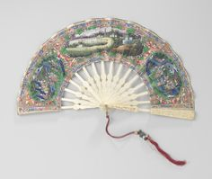 Double-sided folding fan, c.1800- c.1825. Rijksmuseum, Public Domain