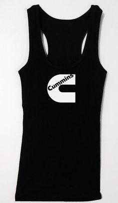 Cummins Diesel Womens Racerback Tank Top Powerstroke Duramax Smokin Shirt Long | eBay