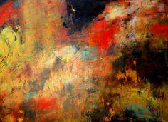 """Evening Light of Cortona"" Oil/Cold Wax 30""x40"" Lisa B. Boardwine"