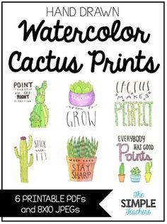 Hand Drawn Cactus Watercolor Prints with Cactus Sayings Classroom Decor Themes, Classroom Door, School Decorations, Classroom Design, Classroom Ideas, Preschool Classroom, Future Classroom, Bulletin Board Borders, Bulletin Boards