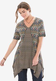 Plus Size Short sleeve trapeze top