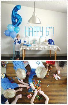 mer mag happy 6th! Lego party