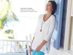 linen & cotton mixed-rib pullover, perfect crops, crisscross sandals, agate pendant necklace