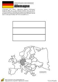 Coloriage du drapeau de l'Allemagne